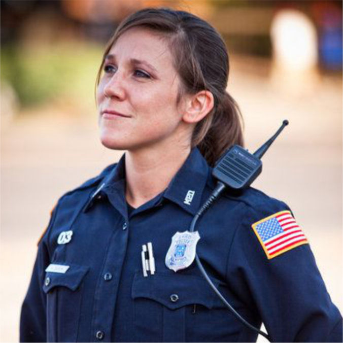 Woman police officer representing a safe and secure apartment Fairview Apartments St. Peter, MN